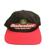 Vtg Budweiser Hat Snapback Black/Red Made in USA 90s Rare Vintage Beer EUC Cap