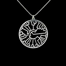 - Reino Unido-Plata Plateado Evolución árbol de la vida Colgante Collar