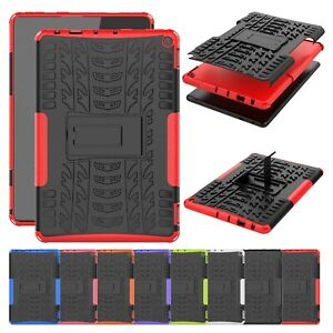 """For Amazon Fire HD10/HD10 Plus 2021 10.1"""" Shockproof Hybrid Case Kickstand Cover"""