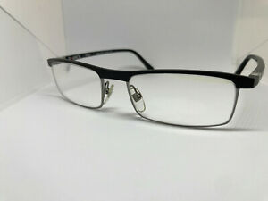 BRAND NEW LUXURY EYEGLASS FRAMES BY STARCK MIKLI MODEL PL1326 M0GA BLACK SATIN
