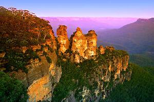 PRINT POSTER blue mountain NSW sydney photo Australia Fits A0 Glass  Frame