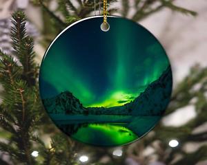 Aurora Borealis Iceland Polar Lights Star Sky Christmas Ornament, Christmas Gift