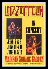 """Framed Vintage Style Rock 'n' Roll Poster """"LED ZEPPLIN - IN CONCERT, MSG""""; 12x18"""