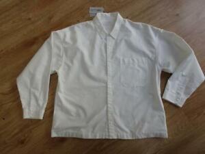 MUJI LABO mens white long sleeve loose fit shirt SIZE LARGE / XL NEW NWT