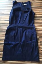 LITTLE ROYAL BLUE TAFFETA LIKE PENCIL COCKTAIL DRESS BY RIVER ISLAND, UK 10