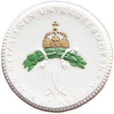 GERMANY PORCELAIN MEDAL 1914-1918  UNTERSEEBOOTSKAMPFERN U-BOAT #alb42 283