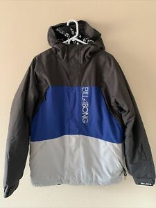 Billabong Bolt 8K Snowboarding Ski Jacket Winter Coat Blue & Gray Men's Small S