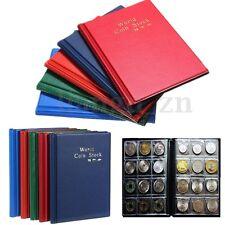 120 Case Album De Pièce Monnaie Classeur Etui Housse Pochette Collection Storage