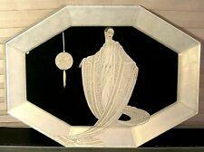 "Erte' Glass Vanity Tray ""Purity"""
