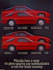 """1988 Mazda Ad Mazda RX7 Turbo-Mazda RX 7SE vs Porsche 944 Turbo & SE-8.5 x 10.5"""""""