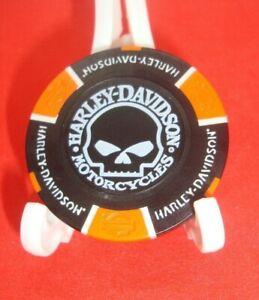 Harley Davidson Poker Chip Skull-Willie G. Golf Ball Marker Card Guard BLK/ORN