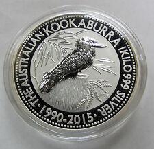2015 Australia Kookaburra 1 Kilo (32.15 oz) 999 Fine Silver