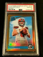 BAKER MAYFIELD 2018 PANINI DONRUSS OPTIC #153 BRONZE PRIZM ROOKIE RC PSA 10