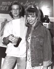 Brad Pitt & Debbie Gibson at De Bevic's - 1988 - Vintage Celebrity Photo