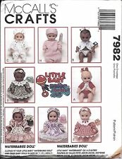 """7982 UNCUT McCalls Sewing Pattern Clothes to fit Waterbabies Dolls 8"""" - 16"""" OOP"""