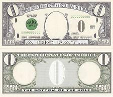 10 Zero Dollar Nada Bucks Prank Fake Money Bills Lot