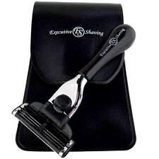 Executive Shaving Company schwarz Reise Mach3 Rasierer & Tasche (m18ks)