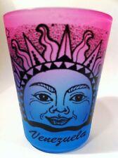 VENEZUELA RAINBOW SUN NEON PINK/NEON BLUE SHOT GLASS