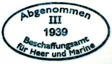 German Helmet M35 1939 III Rubber Dome Shell Stamp Acceptance Office III Q SE ET