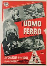 IRON MAN (L'UOMO DI FERRO) Affiche italienne entoil. Joseph PEVNEY,Jeff CHANDLER