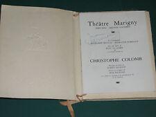 "Programme Théâtre Marigny RENAUD BARRAULT ""Christophe COLOMB"" autog. J. DESAILLY"