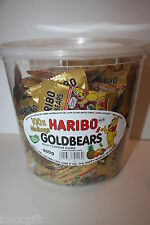 100 x Minibags HARIBO Gold Bears 980g Box