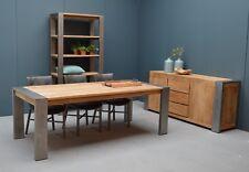 Teakholz Esszimmertisch Industrieal Tafel Dinnertisch 220cm x 100cm Holz/Metall