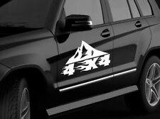 4X4 OFFROAD 2X Vinyl Decal Sticker Fit For All Off-Road 4X4 montagnes voitures