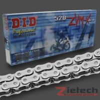 DID Motorrad Kette Offen + Nietschloss X-Ring 520 ZVMX 94 Glieder Silber