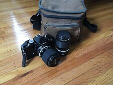 Nikon FE SLR 35mm Film Camera + 43-86mm Zoom-Nikkor Lens Case / Bag Package!