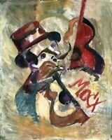 "Expressionist ""MOCX"" Öl Leinwand 50x40 cm"