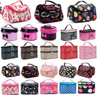 Women Girl Cosmetic Makeup Case Storage Toiletry Handle Organizer Travel Bag New
