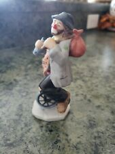 Emmett Kelly Jr Figurine - Hobo Riding A Unicycle