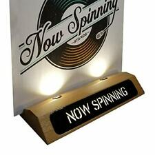 Now Spinning Record Stand Vinyl Illuminated LED Display (Satin)