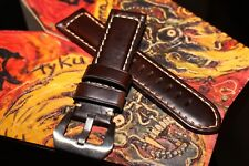 Handmade 24mm Thick Cowhide Vegetable Tanned Leather Watch Strap - BAD MUTHA
