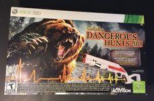 Cabela's Dangerous Hunts 2013 W/ Top Shot Fearmaster Package (XBOX 360) NEW