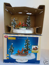 2005 Lemax Christmas Village Animated Around We Go Merry Go Round  RETIRED