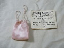 Vintage Original Barbie Ballerina #989 Pink Bag and Invitation
