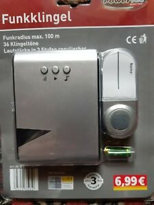 Funkklingel kein Kabel erforderlich POWERTECH 36 Klingeltöne Original Verpackung