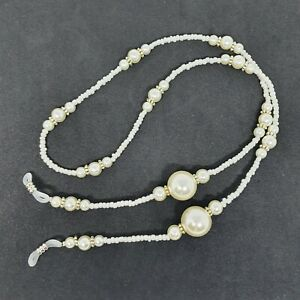 Trendy Classic Pearly Beads Reading Glasses Lanyard (AEC117PB)