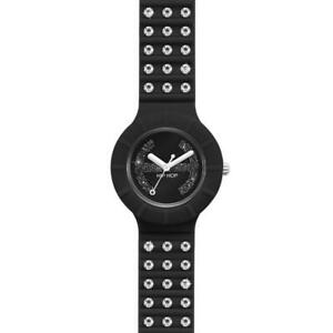 Orologio Donna HIP HOP CRYSTAL HWU0484 Small 32mm Silicone Nero Swarovski