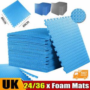 Eva Foam Mat Soft Floor Tiles Interlocking Kids Baby Play Mats Gym 60X60cm UK