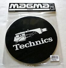 "NEW AND SEALED - TECHNICS - TURNTABLE DJ SLIPMATS - PAIR ""HEADSHELL"" DESIGN"