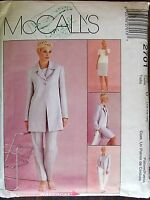 McCall's sewing pattern no.2701 Ladies summer suit  size 12-14-16