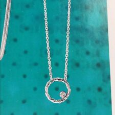 Silpada N2290 Orbiting Moon Necklace VERY RARE HTF Circle CZ Cubic Zirconia