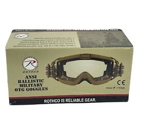 Rothco Coyote Brown ANSI OTG Ballistic Goggles - 1732