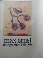 Affiche d'exposition Max Ernst Lithographies 1966-1976 au Centre Pompidou (1977)
