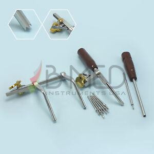 OR Grade Caspar Cervical Distractor Right Set With Screw Driver Spine Instrument