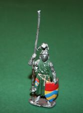 Rear Old Vintage Lead Soldier Knight Hand Painted High Detail 100 mm