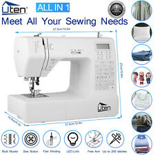 More details for uten computerized sewing machine electronic 200 stitches 8 buttonholes household